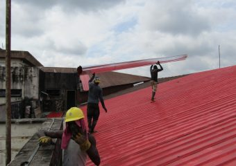 Ongoing Renovation of the DELSUTH clinical building roof